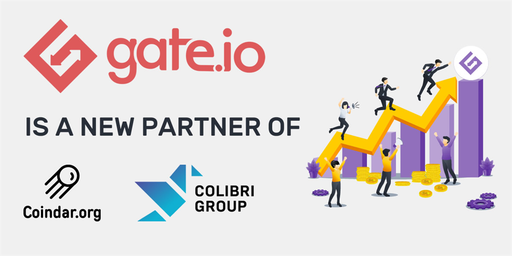 Gate.io Has Become a Partner of Coindar & Colibri Group