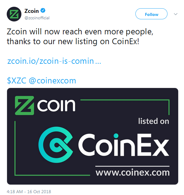 ZCoin XZC events: airdrop, hard fork, listing