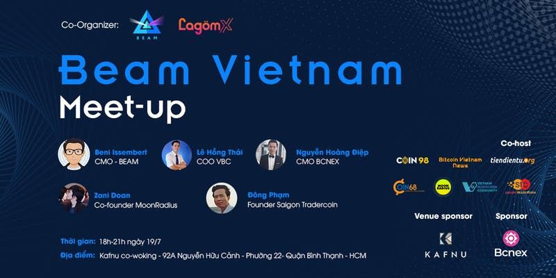 Beam events: airdrop, hard fork, listing