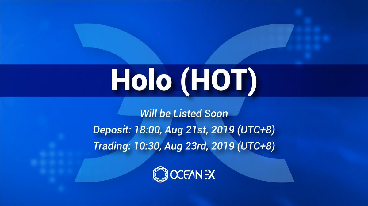 Holo HOT events: airdrop, hard fork, listing