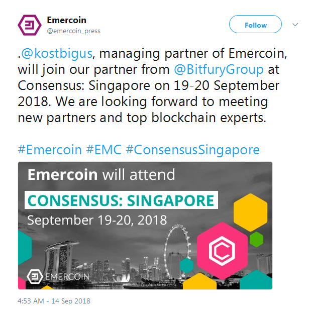 Emercoin EMC Consensus Singapore Coindarorg Awesome Emc Quote