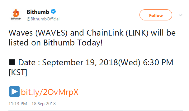 ChainLink LINK events: airdrop, hard fork, listing